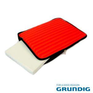 """Bolsa Laptop/Tablet 17"""" Barras Vermelho Grundig - (76680R)"""