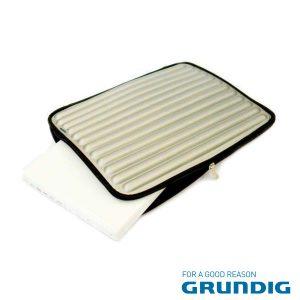 """Bolsa Laptop/Tablet 17"""" Barras Cinza Grundig - (76680S)"""