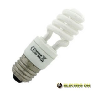 Lâmpada E27 5W=25W 230V Eco Espiral 3200k Edh - (80.405/5/CAL)