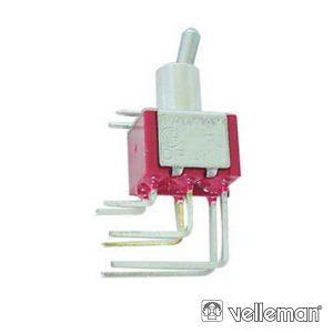 Interruptor Alavanca Dpdt 90° Vertical On-Off-On - (8022L)