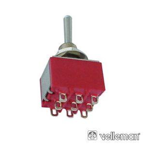 Comutador Alavanca 3pdt Vertical On-On Tipo Ci - (8301C)