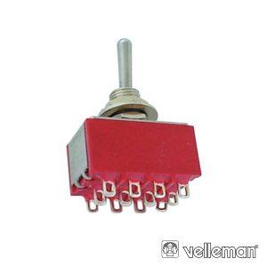 Comutador Alavanca 4pdt On-On - Tipo Ci - (8401C)
