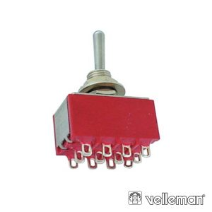 Interruptor Alavanca 4pdt On-Off-On - Tipo Ci - (8405C)