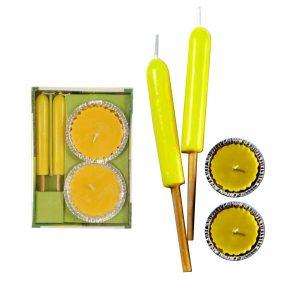 Conjunto De 4 Velas De Cheiro A Limão - (86641)