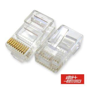 Ficha Telefone RJ50 Modular 10p10c - (94-319)