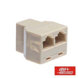 Adaptador De Telefone 8p8c 1 Fêmea/2 Fêmea Modular - (94-404)