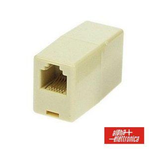 Adaptador De Telefone 6p6c RJ12 1fêmea/1fêmea - (94-412)