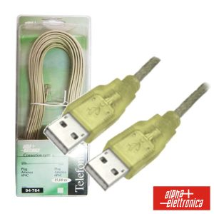 Cabo USB-A 2.0 Macho / USB-A Macho 1.8m Blister - (95-620)