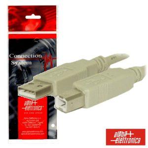 Cabo USB-A 2.0 Macho / USB-B Macho 5m Branco - (95-602/5B)