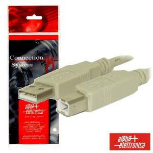 Cabo USB-A 2.0 Macho / USB-B Macho 1.8m Polybag - (95-602B)