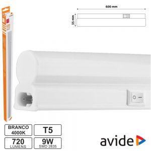 Armadura LED  9W 60cm IP20 4000K 720lm AVIDE - (AB600T5-9W-NW)