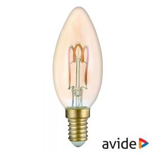 Lâmpada E14 3W Vela 230V Filamento 2700K 180lm AVIDE - (ABLSFC14EW-3W)