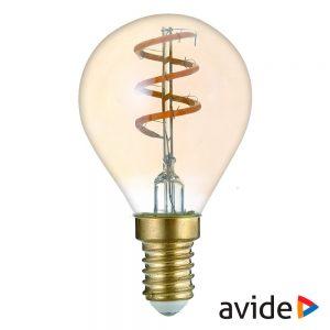 Lâmpada E14 3W Globo 230V Filamento 2700K 180lm AVIDE - (ABLSFMG14EW-3W)