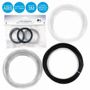 Filamentos P/ Impressão 3d 3 Cores - (ABS3D/3)