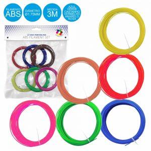 Filamentos P/ Impressão 3d 6 Cores - (ABS3D/6)