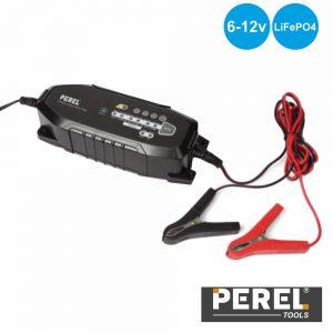 Carregador Baterias Chumbo 6/12V E Lifepo4 IP65 Perel - (AC38)