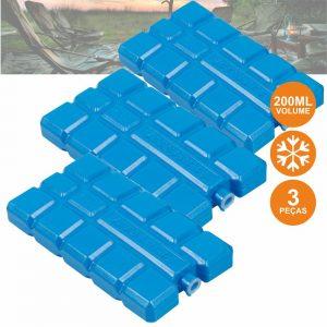 Acumulador De Gelo Reutilizável P/ Geleira 3x200ml - (CAMP373)