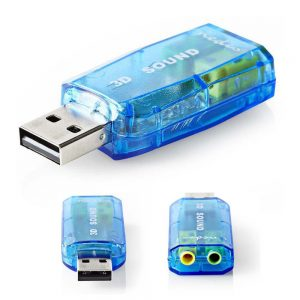 Adaptador Placa Som USB 5.1 C/ 2 Fichas Jack - (USCR10051BU)