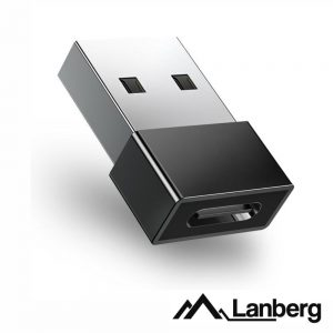 Adaptador USB-A Macho / USB-C Fêmea LANBERG - (AD-UC-UA-01)