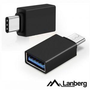 Adaptador USB-C Macho / USB-A Fêmea LANBERG - (AD-UC-UA-02)