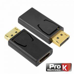 Adaptador Displayport Macho / HDMI Fêmea PROK - (ADPDP01)