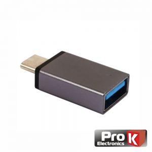 Adaptador Micro USB-B Macho / USB-A 3.0 Fêmea PROK - (ADPUSB3.0B/3)