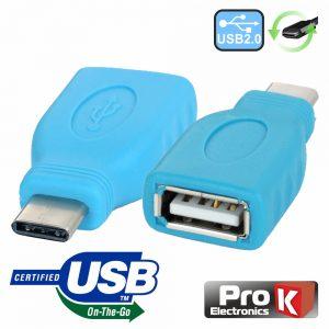 Ficha Adaptadora USB-C 2.0 Macho / USB-A Fêmea Otg - (ADPUSB3.1C/1)