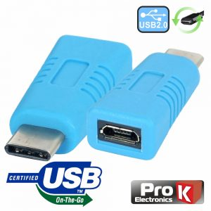 Ficha Adaptadora USB-C 2.0 Macho / Micro USB-B Otg Fêmea - (ADPUSB3.1C/6)