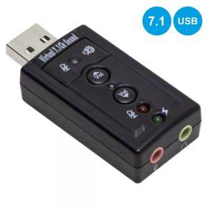 Placa De Som USB 7.1 C/ 2 Fichas Jack - (ADPUSBSOUND7.1A)
