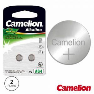 Pilha Botão Ag4 / LR626 1.5v 18ma 2x Blister CAMELION - (AG4A-BP2)