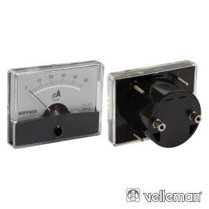 Amperímetro De Painel 50µa DC VELLEMAN - (AIM60005)