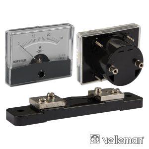 Amperímetro De Painel 30a DC VELLEMAN - (AIM6030A)