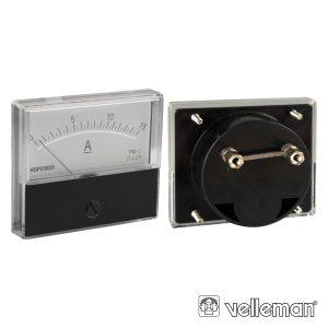 Amperímetro De Painel 15a DC VELLEMAN - (AIM7015A)