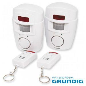 Alarme C/ 2 Sensores PIR e 2 Comandos GRUNDIG - (06892)