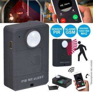 Alarme C/ Sensor Pir Cartão Gsm 850/900/1800/1900mhz - (ALERT-A9)
