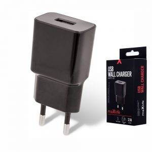 Alimentador Compacto 1 USB 5V 2.1A Preto - (MXTC-01)