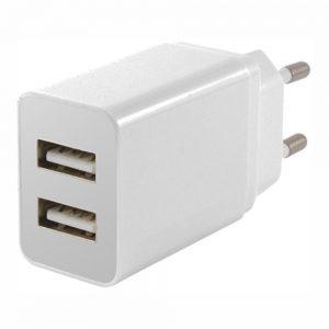 Alimentador Compacto Comutado 2 USB 5v 2.1A Branco - (USW002)