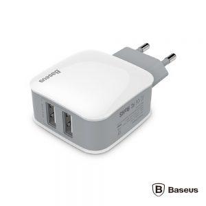 Alimentador Compacto Comutado 2 USB 5v 2.4a BASEUS - (ZCL2B-B02)