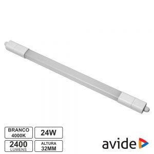 Armadura LED Batten 24W IP65 4000K 2400lm 120cm Nano AVIDE - (ALNLNW-24W)