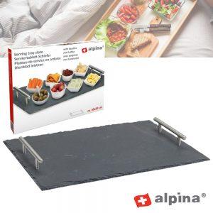 Bandeja P/ Aperitivos Em Ardósia 30x40cm Alpina - (ALP753)