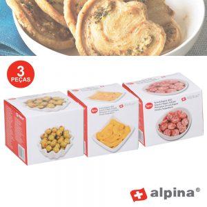 Conjunto 3 Taças P/ Snacks Alpina - (ALP913)