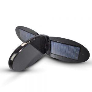 Carregador Solar 1100ma 5v C/ 12 Fichas E Lcd USB A-Solar - (AM106)