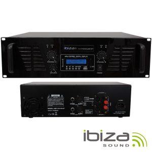 Amplificador Áudio 2x800W USB/BT IBIZA - (AMP1000USB-BT)
