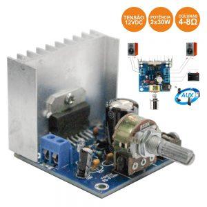 Amplificador Áudio 2x30W 12V 4-8 Ohms - (AMP230(H))