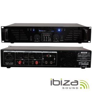 Amplificador Áudio 2x240W USB/BT IBIZA - (AMP300USB-BT)