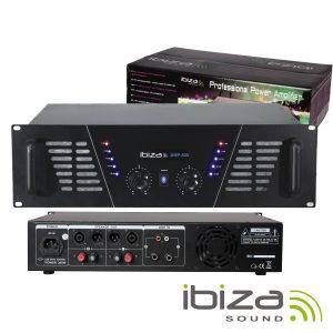"""Amplificador Áudio 19"""" 2x600W IBIZA - (AMP800(I))"""