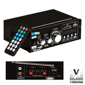 Amplificador 12/220V 60W MP3/USB/SD/FM VSOUND - (VSPA60UE)