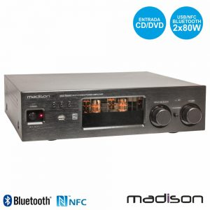 Amplificador A Válvulas 2x80W Vintage USB/BT Madison - (MAD-TA80BT)