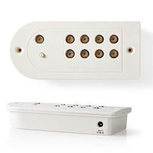 Amplificador De Antena C/ Ajuste e 8 Saídas 15dB - (SAMP40180WT)