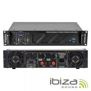 """Amplificador Áudio 19"""" 2x1500W IBIZA - (AMP2000-MKII)"""